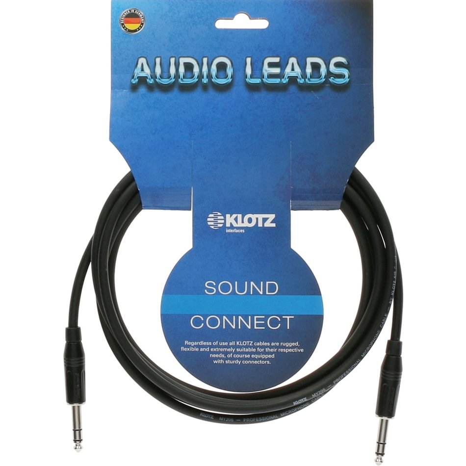 Klotz balanced jack cable with Amphenol plug 5 m