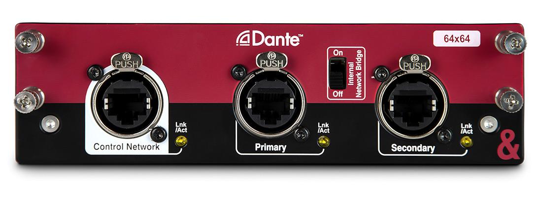 A&H DANTE card 64 x 64 96kHz