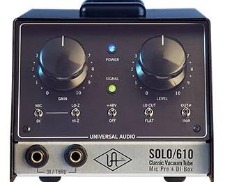 Universal Audio Solo/610 Classic Tube Single Channel Mic Pre
