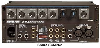 Shure mixer 2 mic, 3 stereo line