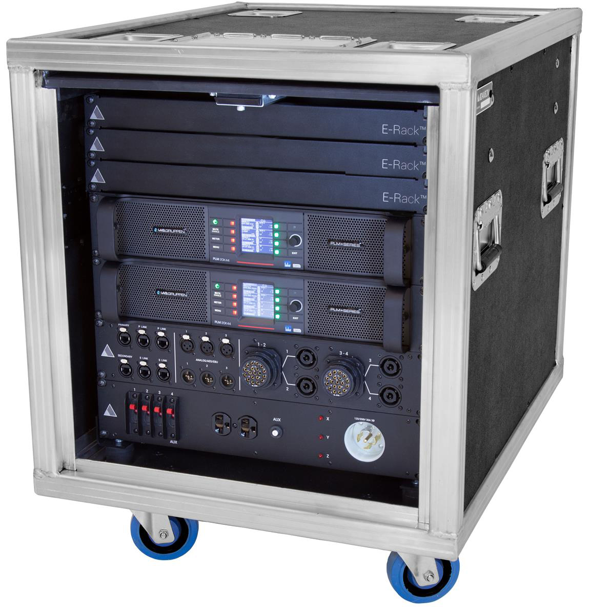Adamson E-rack 8ch 2x PLMplus 20K44 komplett.