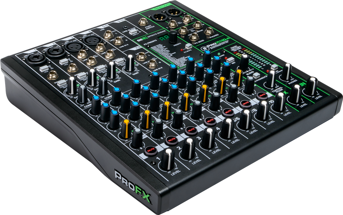 Mackie 10 Channel Professional Effects Mixer with USB