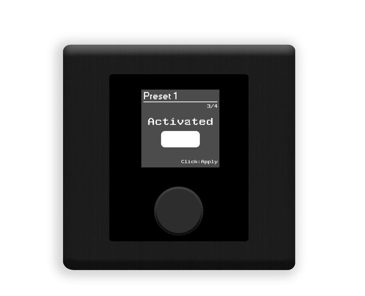 Xilica Programmable wall control. 1.5in OLED display Black