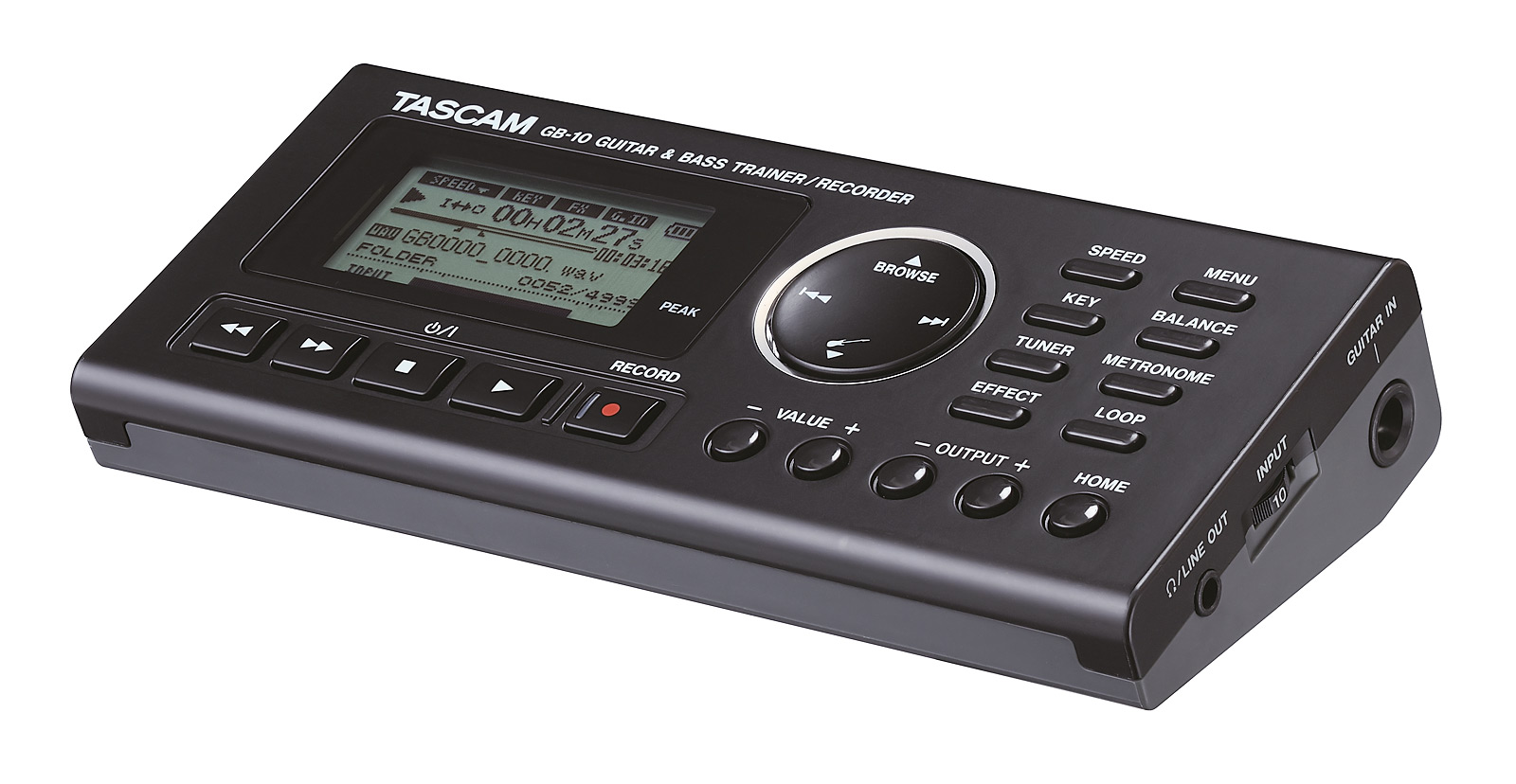 Tascam Trainer-Recorder for Guitar and Bass with effects