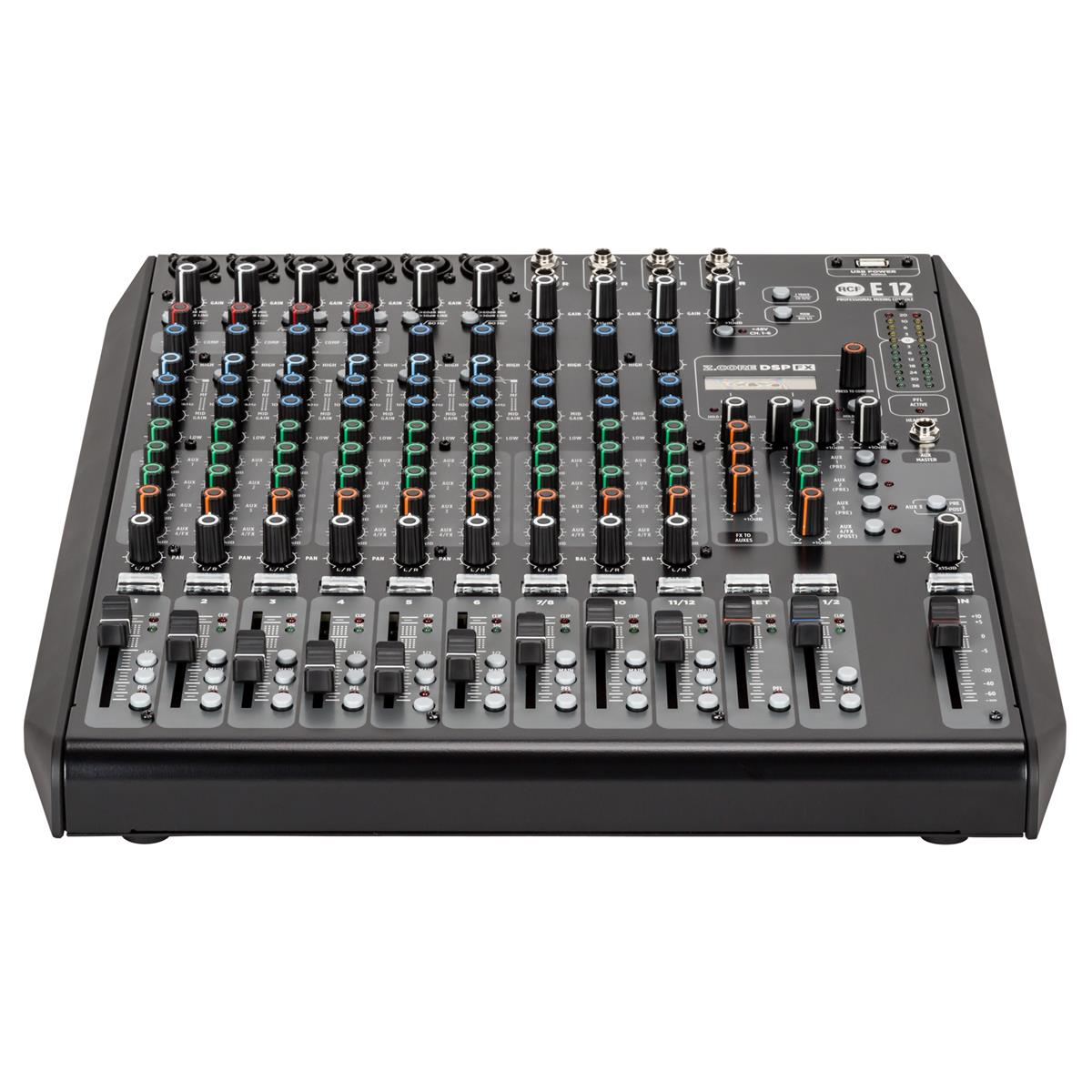 RCF E 12 12-kanals analog mikser med FX/USB