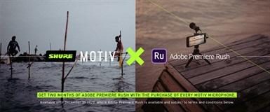 Rush fritt 2 månader vid köp av valfri Shure Motiv™