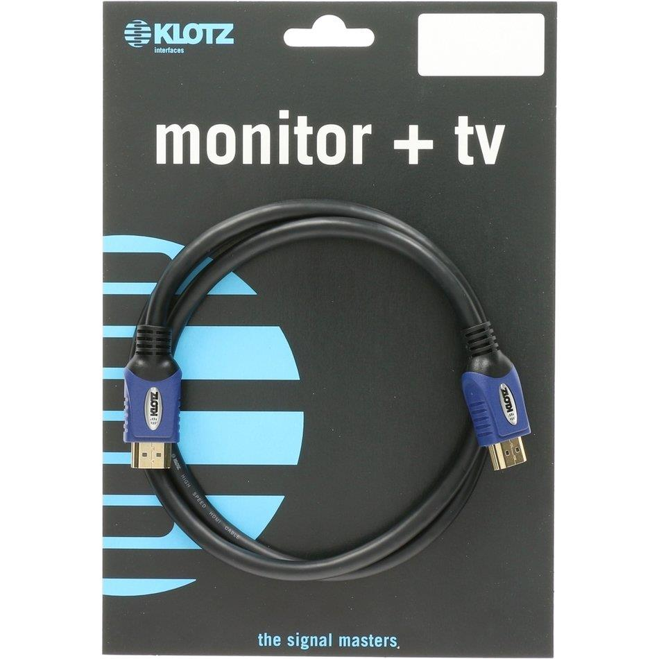 Klotz HDMI high speed cable with gold-plated contacts 8m