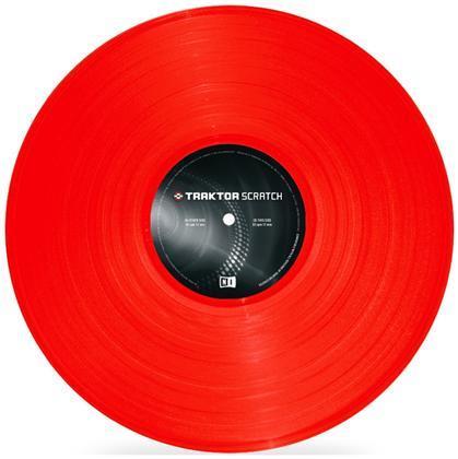 Native Traktor Scratch Pro Control Vinyl Red MK2