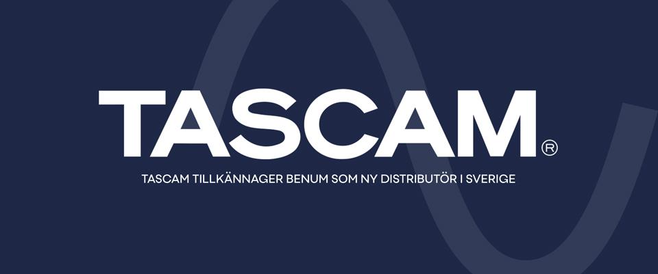 TASCAM - NY AGENTUR HOS BENUM