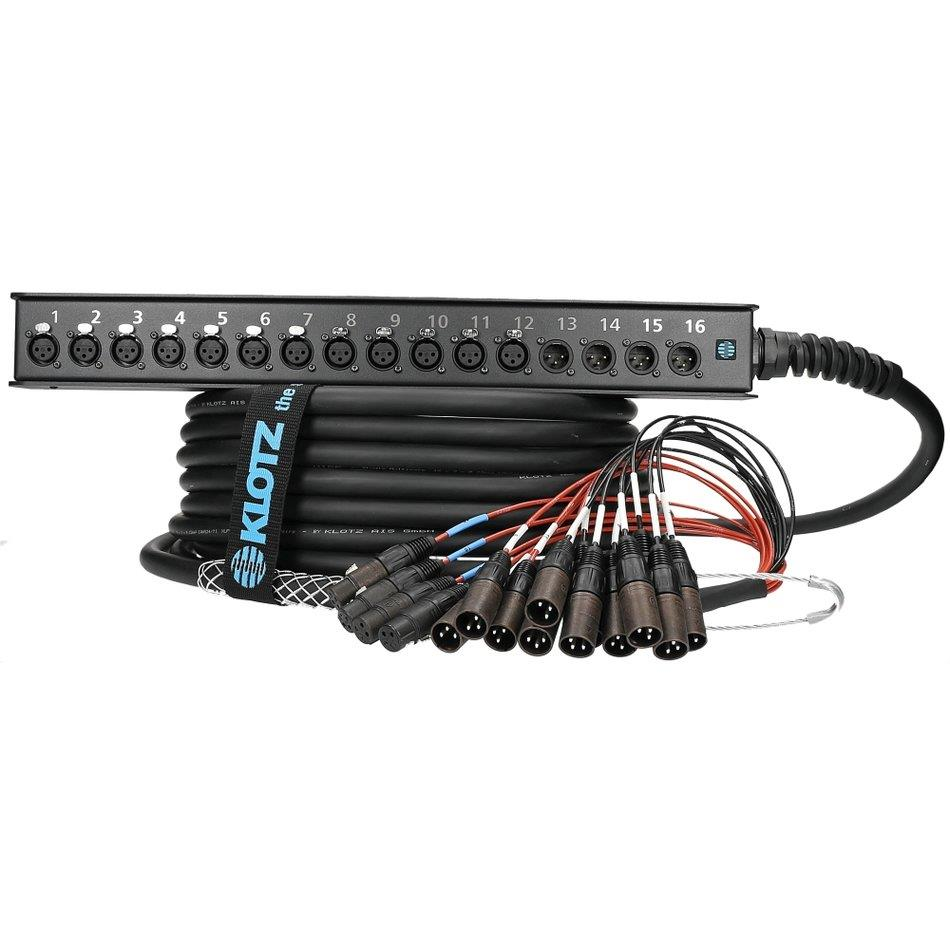 Klotz StraightLink 16 channels 12/4 XLR single ground 10m