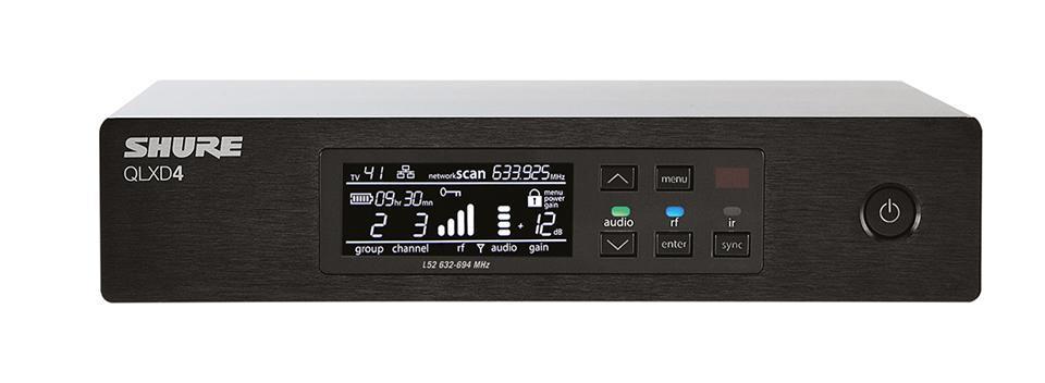 Shure QLXD4 Wireless Receiver K51(606-670 MHz)