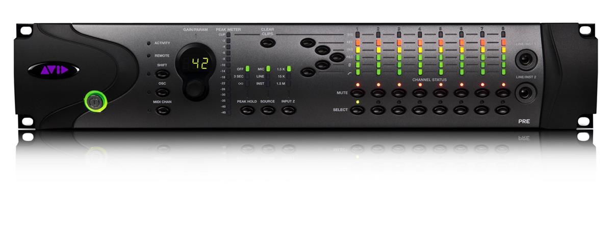 Avid PRE, 8 kanals preamp m MIDI styring