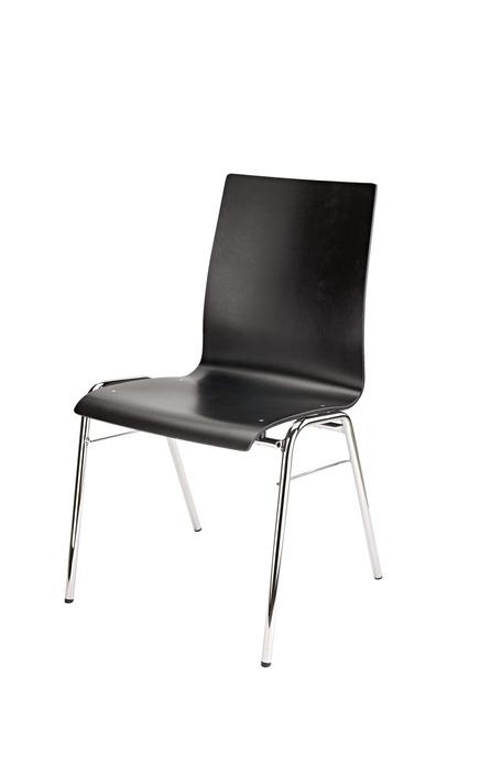 K&M 13405 stablestol i sort tre, ramme i rørformet stål