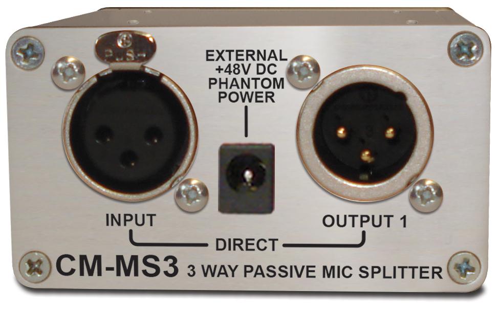 Sonifex Single 3 Way Passive Microphone Splitter