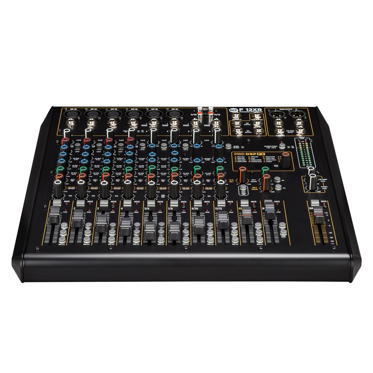 RCF F 12XR 90-240V 12 channel mixing console with multi-FX &