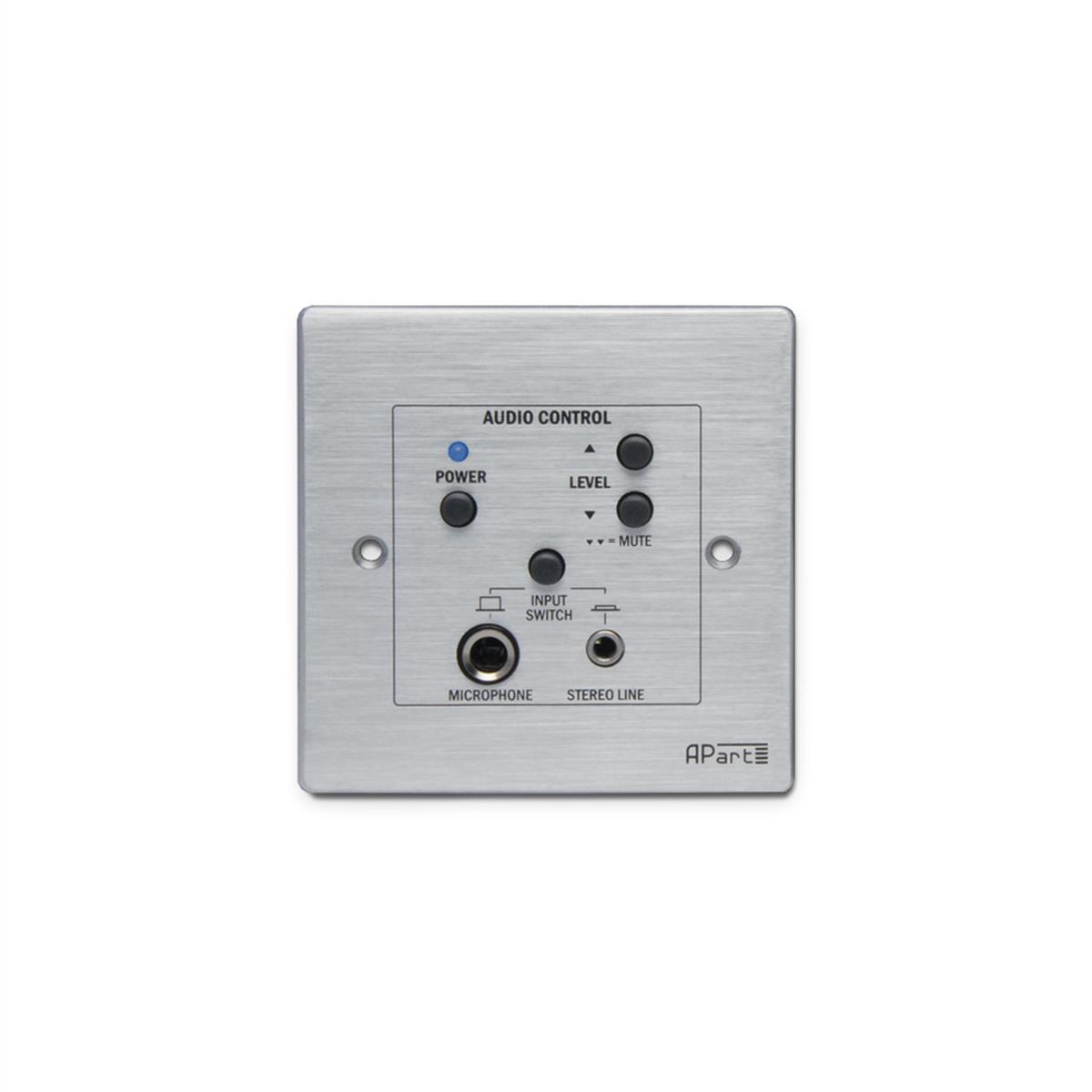 Apart audio kontrol panel med mic-line input