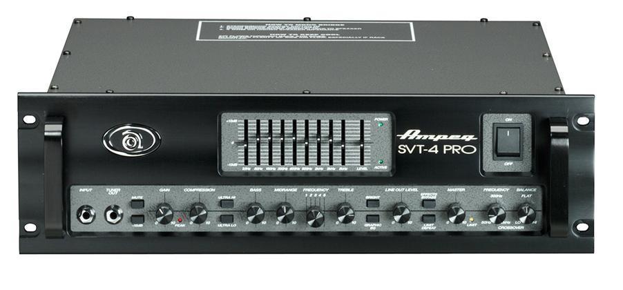 Ampeg SVT4PRO 2x400W basstopp rackmount