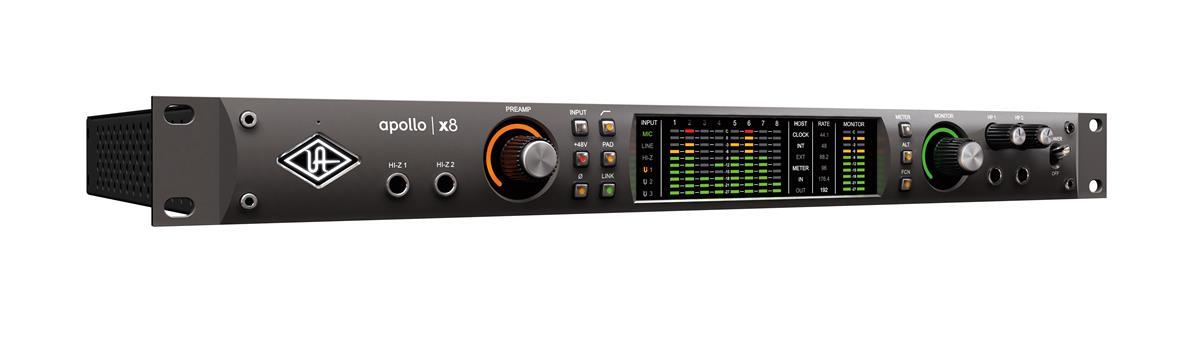 Universal Audio Apollo X8, x4 Mic, x8 ana. I/O, x6 DSP, TB3