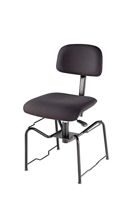 K&M 13440 Orkesterstol,sete i sort brannsikkert stoff