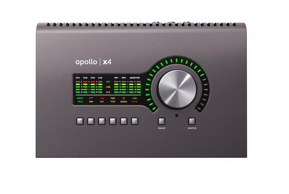 Universal Audio Apollo X4 Audiointerface, QUAD x4 DSP, TB3