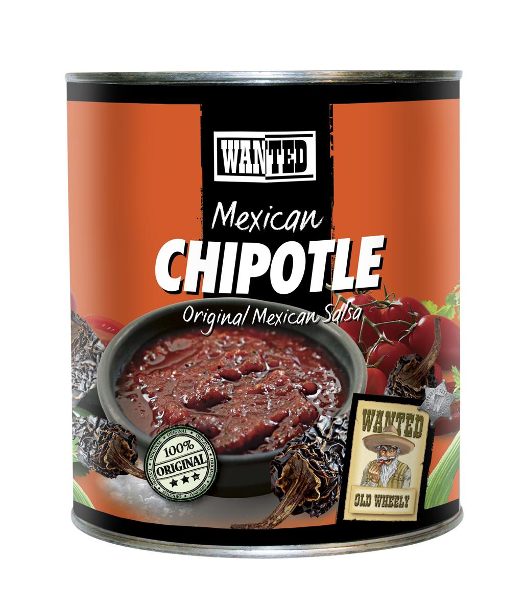 Salsa piccante m/chipotle 2,8 kg wanted