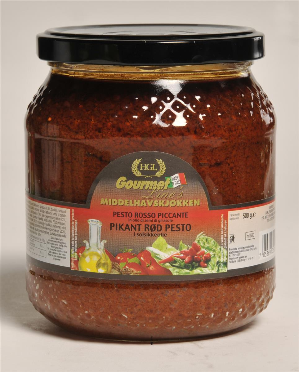 Pesto rød g.l. 580 ml