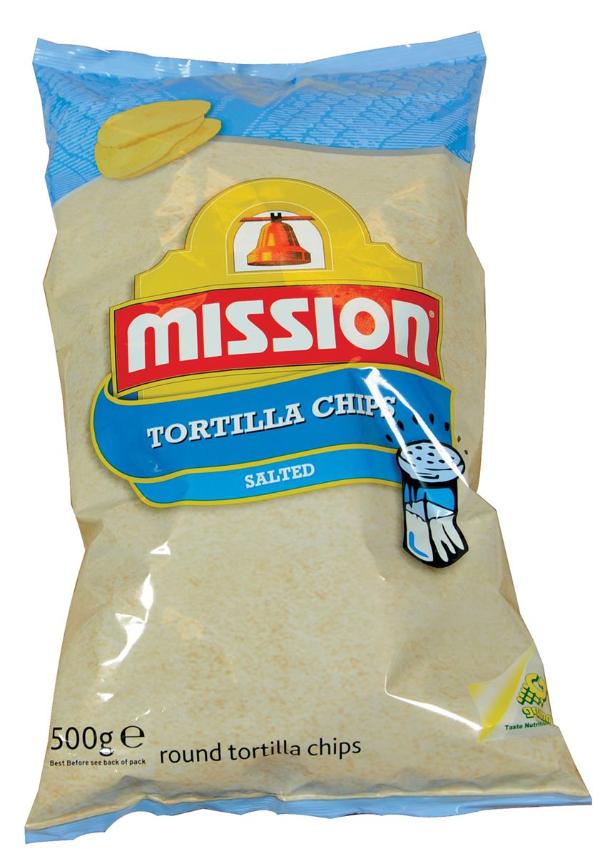 Tortilla chips 12/500 g mission