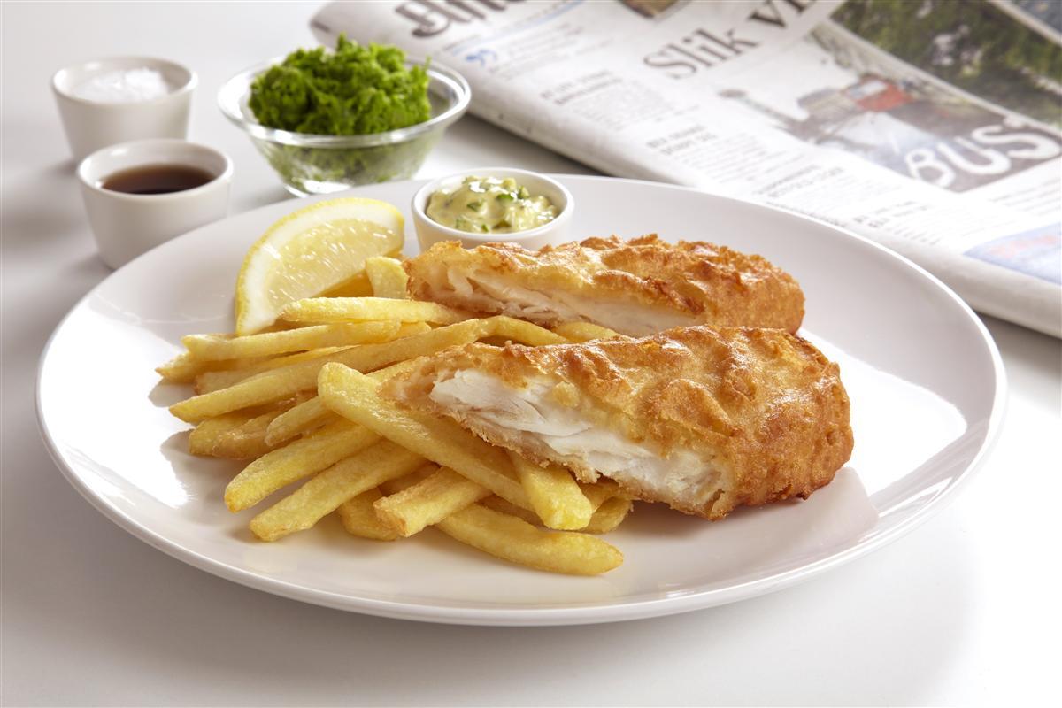 Carl evensen eftf fisk bearbeidet fish n chips gourmet for Bettys fish and chips