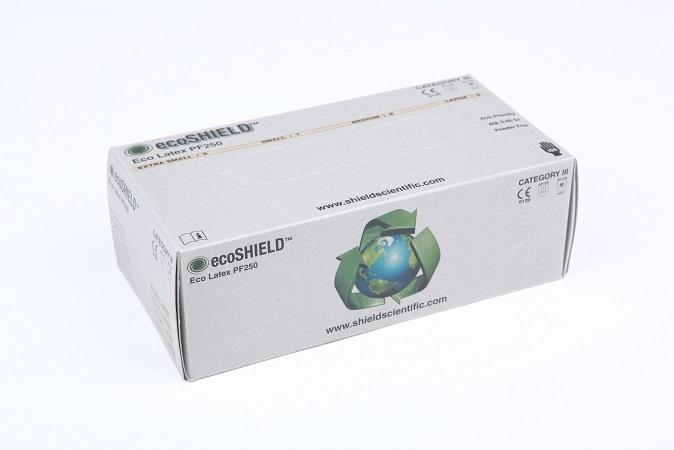 Hansker ecoSHIELD Eco Latex PF 250, 10x100 stk. L