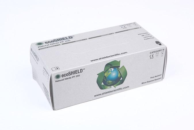 Hansker ecoSHIELD Natural Nitril PF 250, 10x200 stk. XL