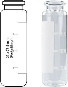 Vial Headspace N20-20 c, 23x75.5,r, (PE Label), 100 stk