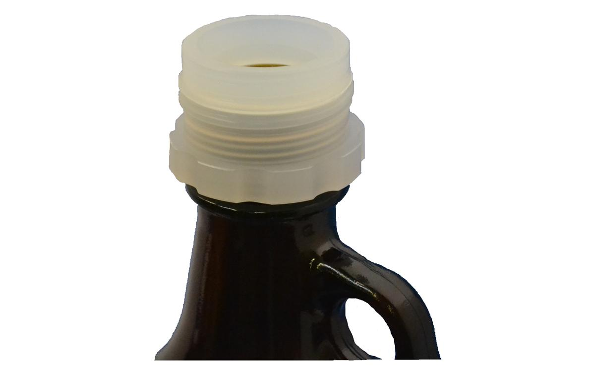 Bottle thread adapter, 38-430 female to GL45 male, PP