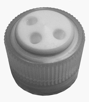 Bottle cap for Nalgene 38-430 bottles, 2  1/4-28 fem port